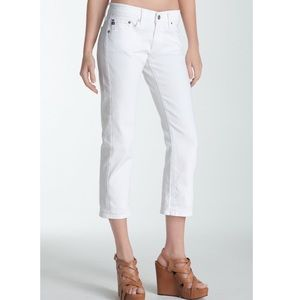 AG 'Tomboy' Crop Jeans in White